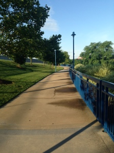 The Riverwalk path